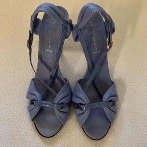 Casadei Powder Blue Leather Sandal 9.5